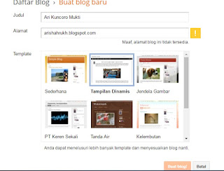 cara membuat website gratis di google