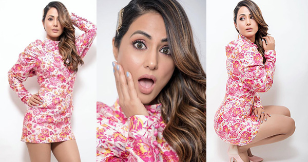 hina khan short dress indian tv actress figure