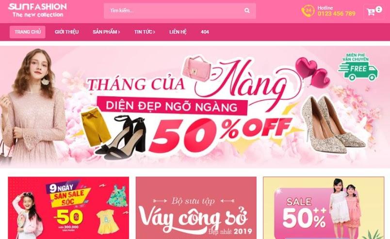 Template Blogspot SunFasun Shop Bán Hàng Đẹp, Chuẩn SEO