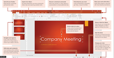 PowerPoint 2016 user interface