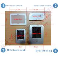 Packaging Flashdisk PP case dan Metal Tinbox kecil dan besar