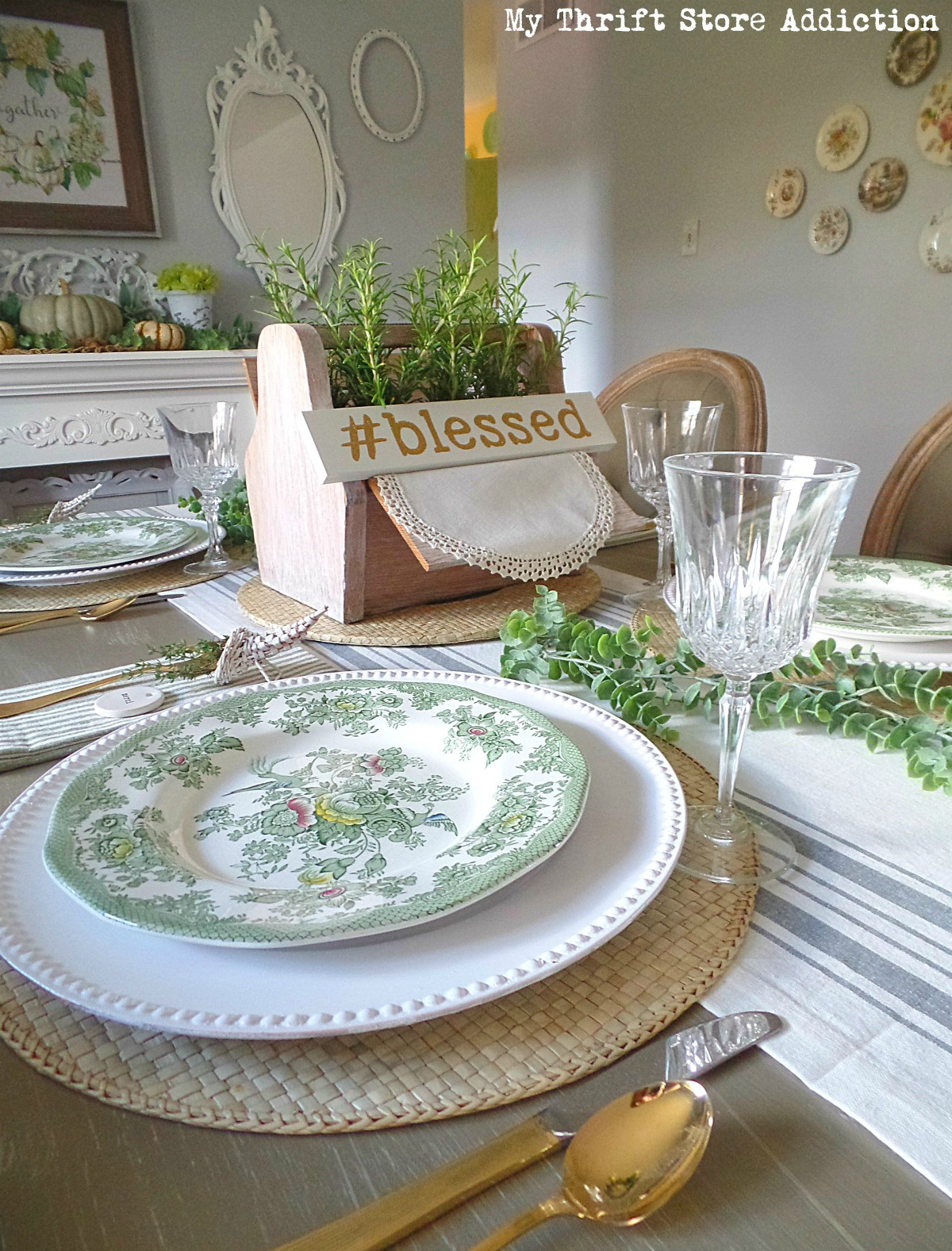 vintage Thanksgiving vignettes