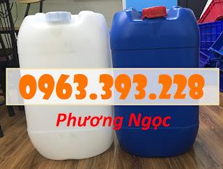 Can đựng hóa chất 25 Lít, can nhựa vuông tròn, can nhựa HDPE 16cadb565c07a759fe16