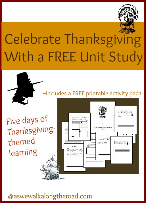 Free five-day Thanksgiving unit study that includes a printables pack
