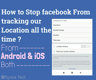 How to stop Facebook from tracking your location in android and iOS