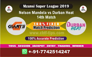 Who will win Today MSL T20 2019, 14th Match Durban vs Nelson, Mzansi T20 2019