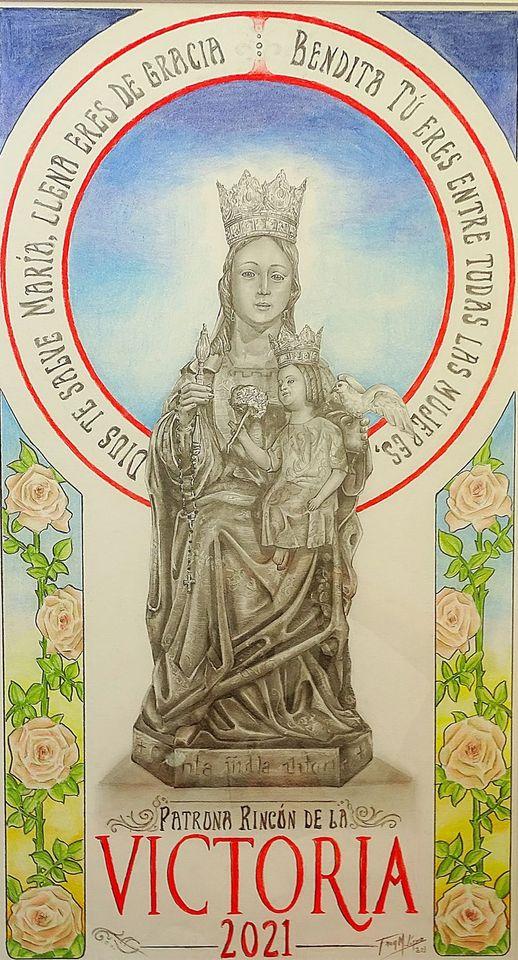 Cartel anunciador de la festividad de Nuestra Señora de la Victoria 2021, patrona de Rincón de la Victoria