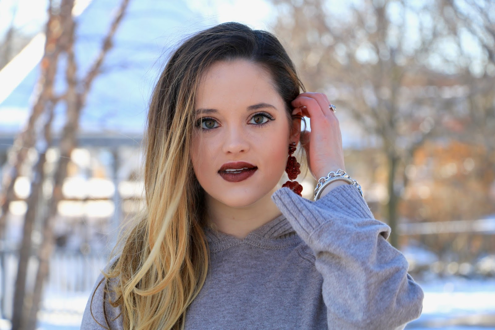 Nyc beauty blogger Kathleen Harper's winter makeup ideas