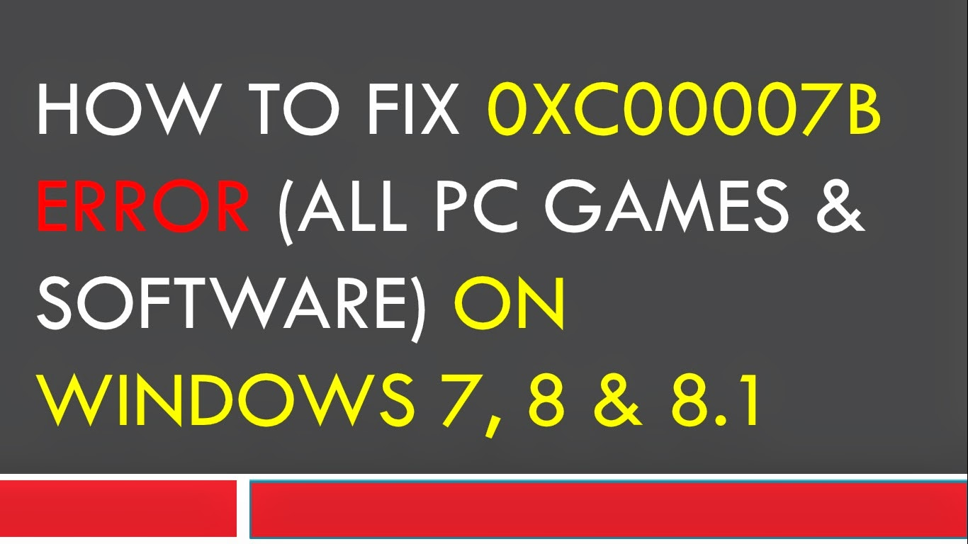 0xc00007b download windows 7 - gnidalzeolin