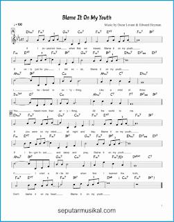 chord blame it on my youth lagu jazz standar