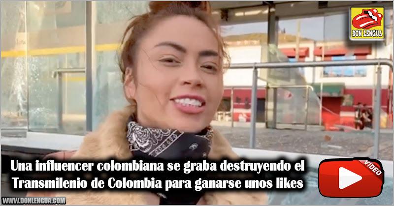 Una influencer colombiana se graba destruyendo el Transmilenio de Colombia para ganarse unos likes