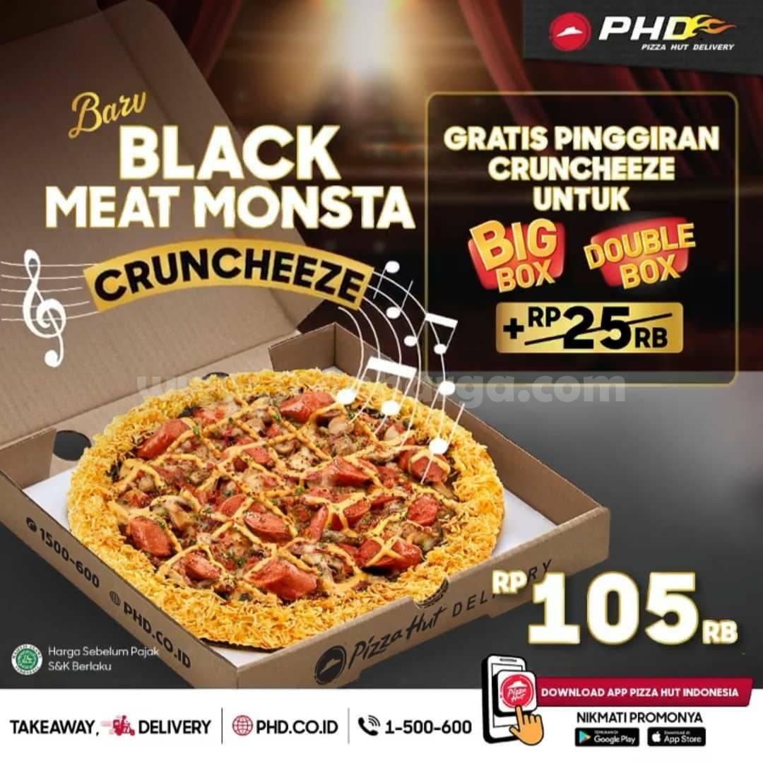 Promo PHD Black Meat Monsta dengan Cruncheeze! Harga mulai Rp 105RB