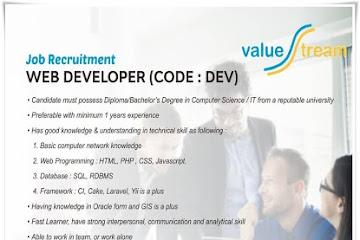 Lowongan Kerja Bandung Web Developer Value Tream