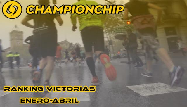Ranking victorias Lliga Championchip 2018 (Enero - Abril)