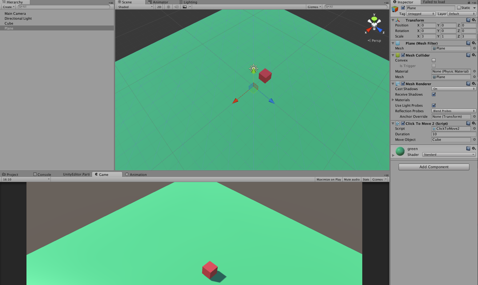 UNITY 3D Tutorials: click to move 3d object using lerp unity c#
