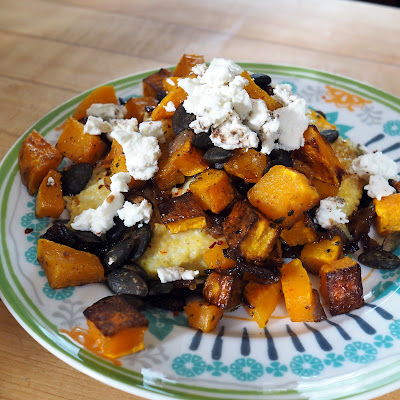 Polenta Cakes with Roasted Butternut Squash