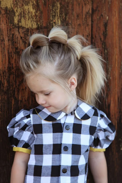 Hairstyles for Little Girls - Fancy Hairstyle With Small Pony