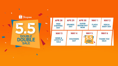 """Score the Nintendo Switch, 50"""" HD TV, iPhone X and more for just ₱1 at the Shopee 5.5 Double Double Sale"""