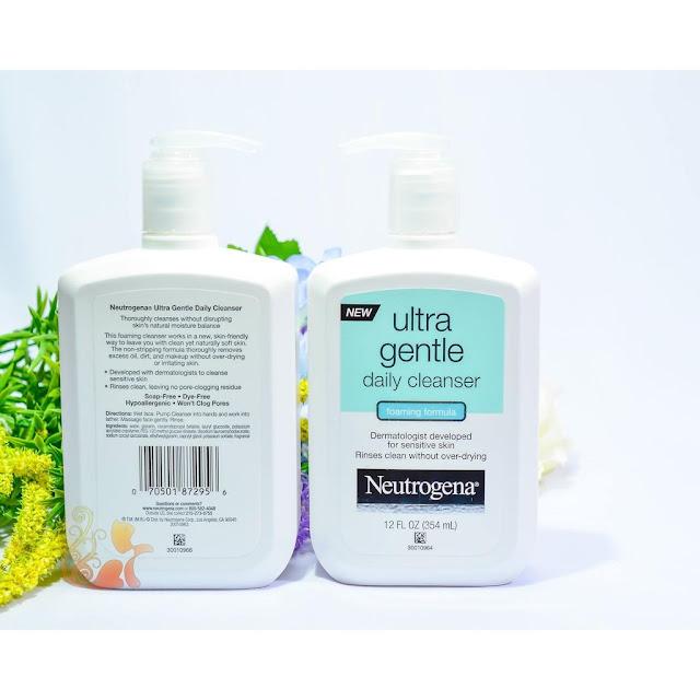 sua rua mat lanh tinh cho ba bau Neutrogena Ultra Gentle Hydrating Daily Facial Cleanser