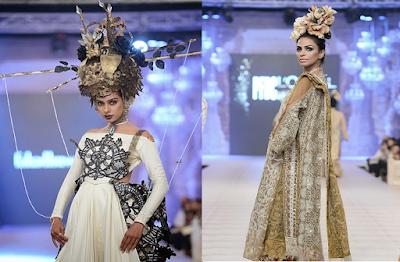 Fahad Hussayn Attractive Bridal Assortment L'Oreal Paris Bridal Couture Week (PFDC) fashionwearstyle.com