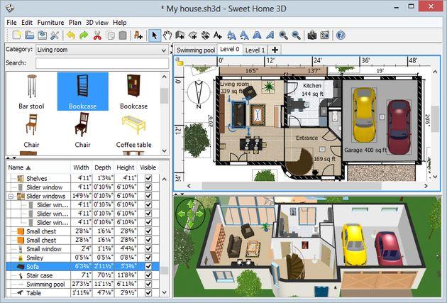 Marzua sweet home 3d software multiplataforma y gratuito for Software decoracion interiores