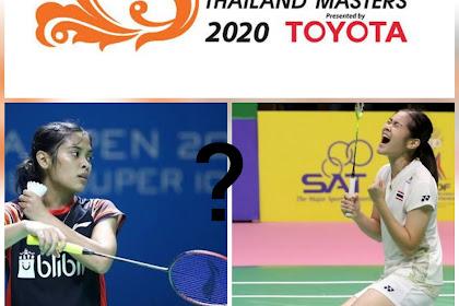 Jadwal Thailand Masters 2020, Gregoria Mariska Tunjung melawan Busanan Ongbumrugphan