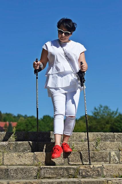 Stylizacja blogerki, nordic walking