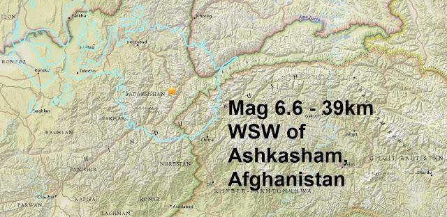 A magnitude 6.6 - 39km WSW of Ashkasham, Afghanistan Untitled
