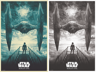 Star Wars Rogue One Main Edition & Variant Screen Print by Karl Fitzgerald x Bottleneck Gallery