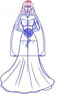 Langkah 5. Cara Mudah Sketsa Gaun Pengantin Wanita