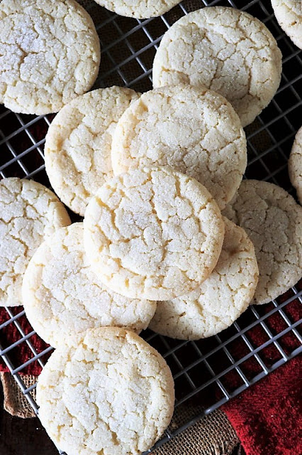 Soft & Chewy Sugar Cookies with Crackled Tops Image