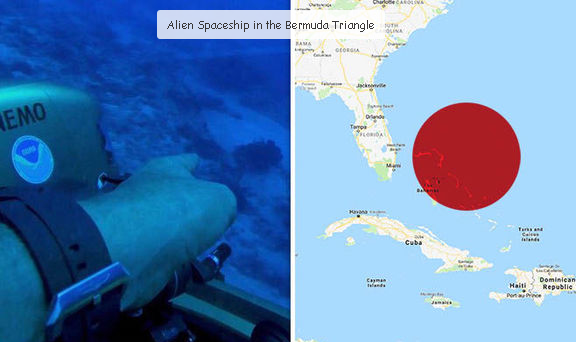 Underwater UFO or USO discovered in the Bermuda Triangle.