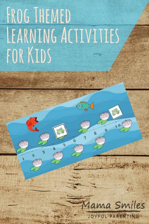 printable games for kids - frog hop number line game