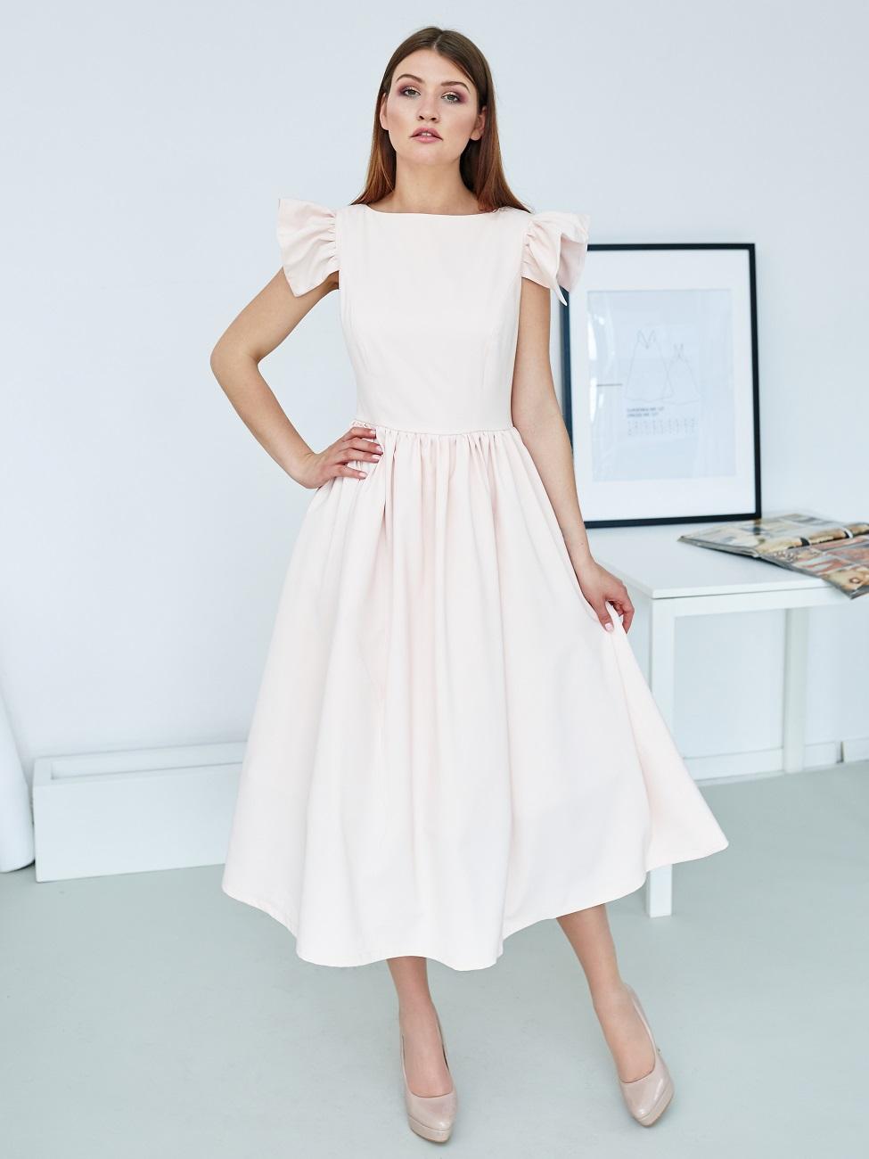 pastelowa sukienka