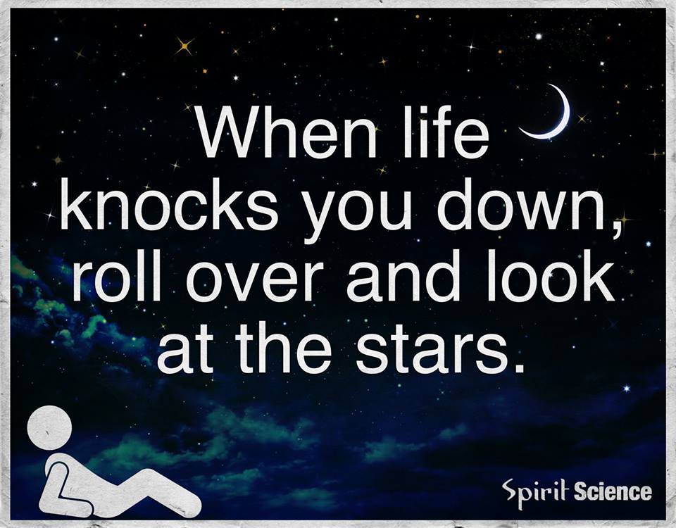 When Life Knocks You Down Roll Over And Look At The Stars Quotes
