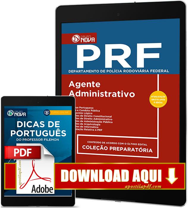 Apostila PRF 2017 PDF Download Agente Administrativo Grátis Curso Online