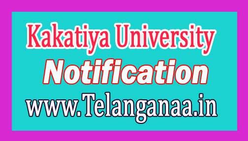 Kakatiya University (KU)UG I Sem Examination fee Notification 2016 Download