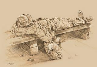 Orang miskin yang tidur