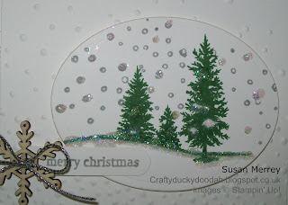 Stampin' Up! Made by Susan Simpson (Merrey) Independent Stampin' Up! Demonstrator, Craftyduckydoodah!, Happy Scenes, Softly Falling TIEF,