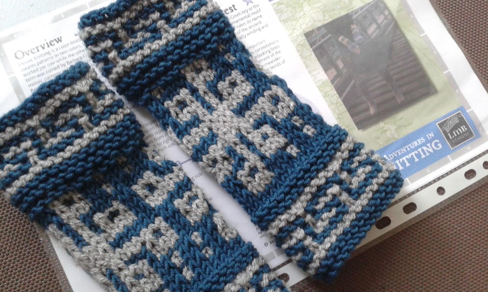 Breien En Haken In Oostende Mosaic Knitting De Mozaiek Techniek