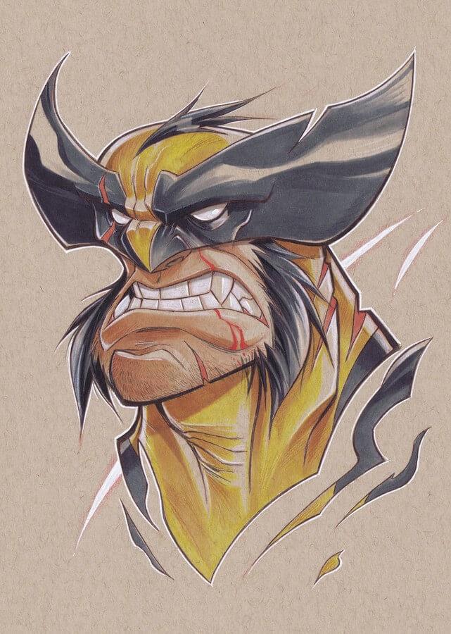 05-Wolverine-X-Men-Jeremiah-Hause-www-designstack-co