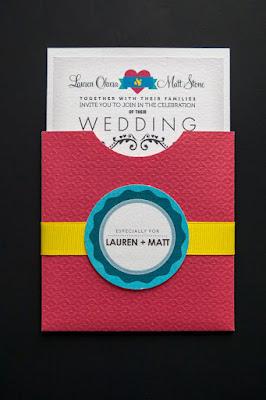 Undangan Pernikahan Bertema CMYK