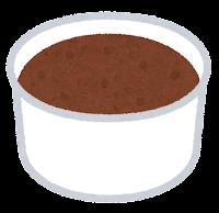 カップのアイスクリームのイラスト(チョコレート)