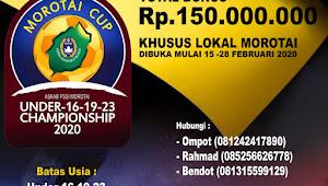 Khusus Lokal, Morotai Cup Umur 16, 19 dan 23 Segera di Helat