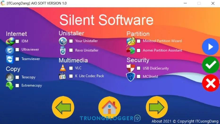Software AIO 1.0 - Bộ công cụ cần thiết dành cho Windows và KTV by IT Cường Đặng