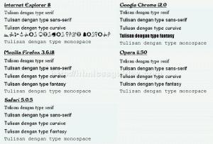 Contoh Font di Browser
