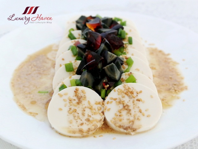 chilled tofu with century egg appetizer recipe