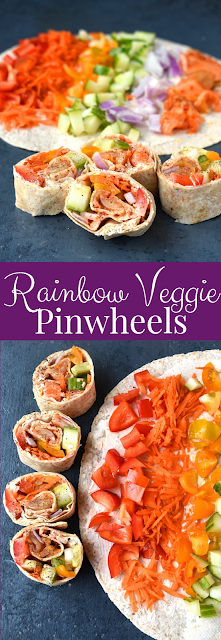 Rainbow Veggie Pinwheels Recipe