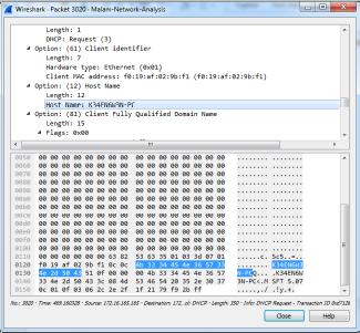 Gambar 4.23 Host name terinfeksi K34EN6W3N-PC