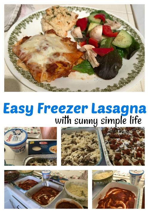easy freezer meals, holiday cooking, lasagna